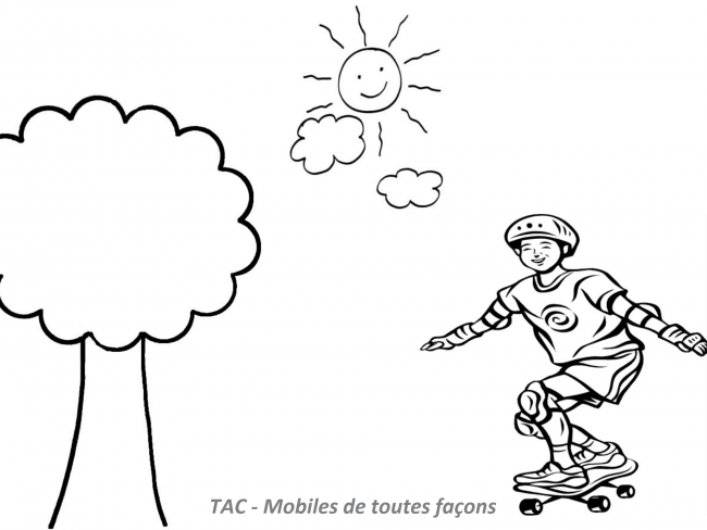 Coloriage TAC - Skate