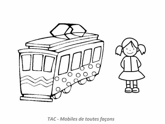 Coloriage TAC - Tramway